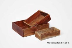Wooden Box Set of 3