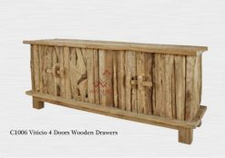 Viticio 4 Doors Wooden Drawer