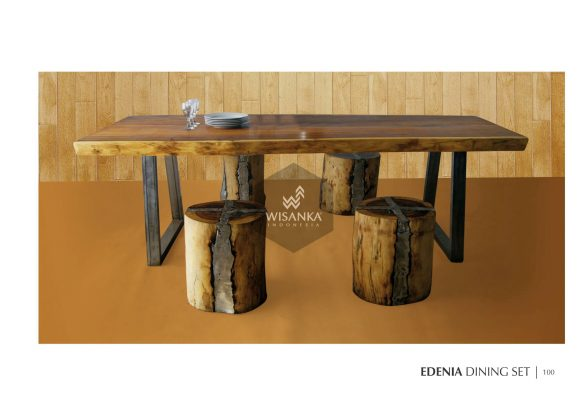Wood Edenia Dining Set