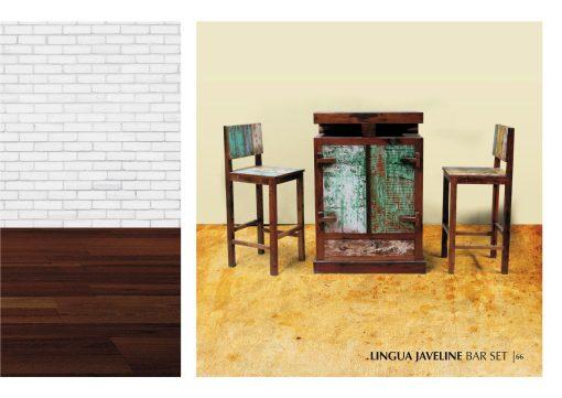 Lingua Javeline Boat Wood Bar Set