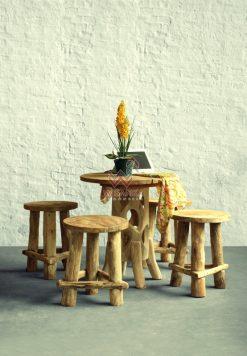 Katana Reclaimed Dining Set with Karawang Table