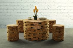 Round Brick Reclaimed Living Set