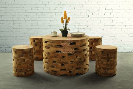 Round Brick Reclaimed Living Set