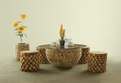 Bowl Wooden Living Set