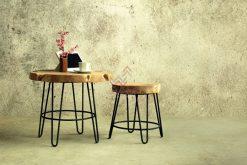 Aksa Wooden Living Set