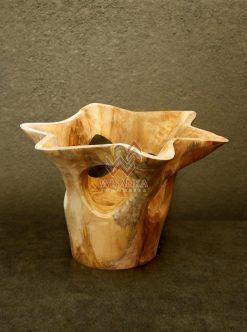 Star Wooden Vase