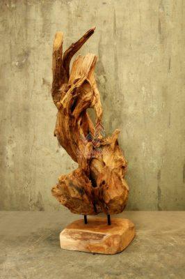 Meli Wood Stand Decor