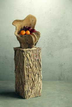 Abstrack Wooden Standing Vase