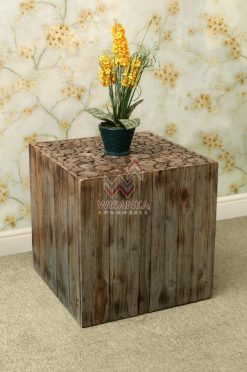 Coin Wooden Side Table