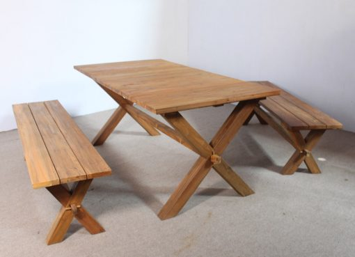 Xavi Rustic Dining Set